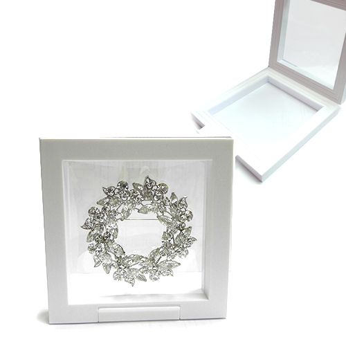 Frame Display Box with Plastic Film White 13x13 cm - Great In ...