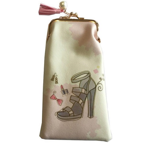 Glasses Case  High Heel , Bow, Lipstick And Earrings
